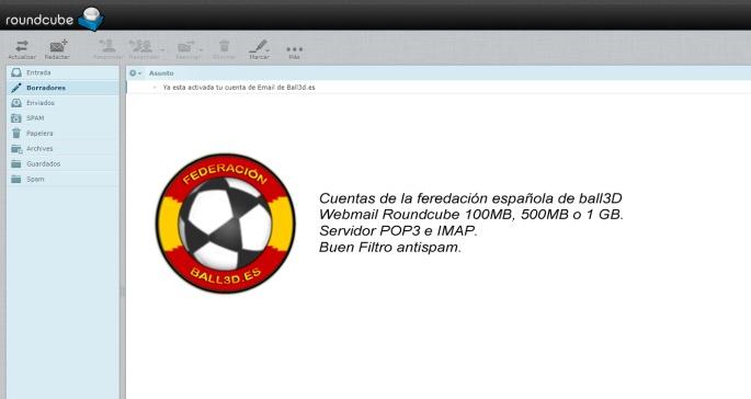 Consigue tu cuenta de Email @Ball3d.es